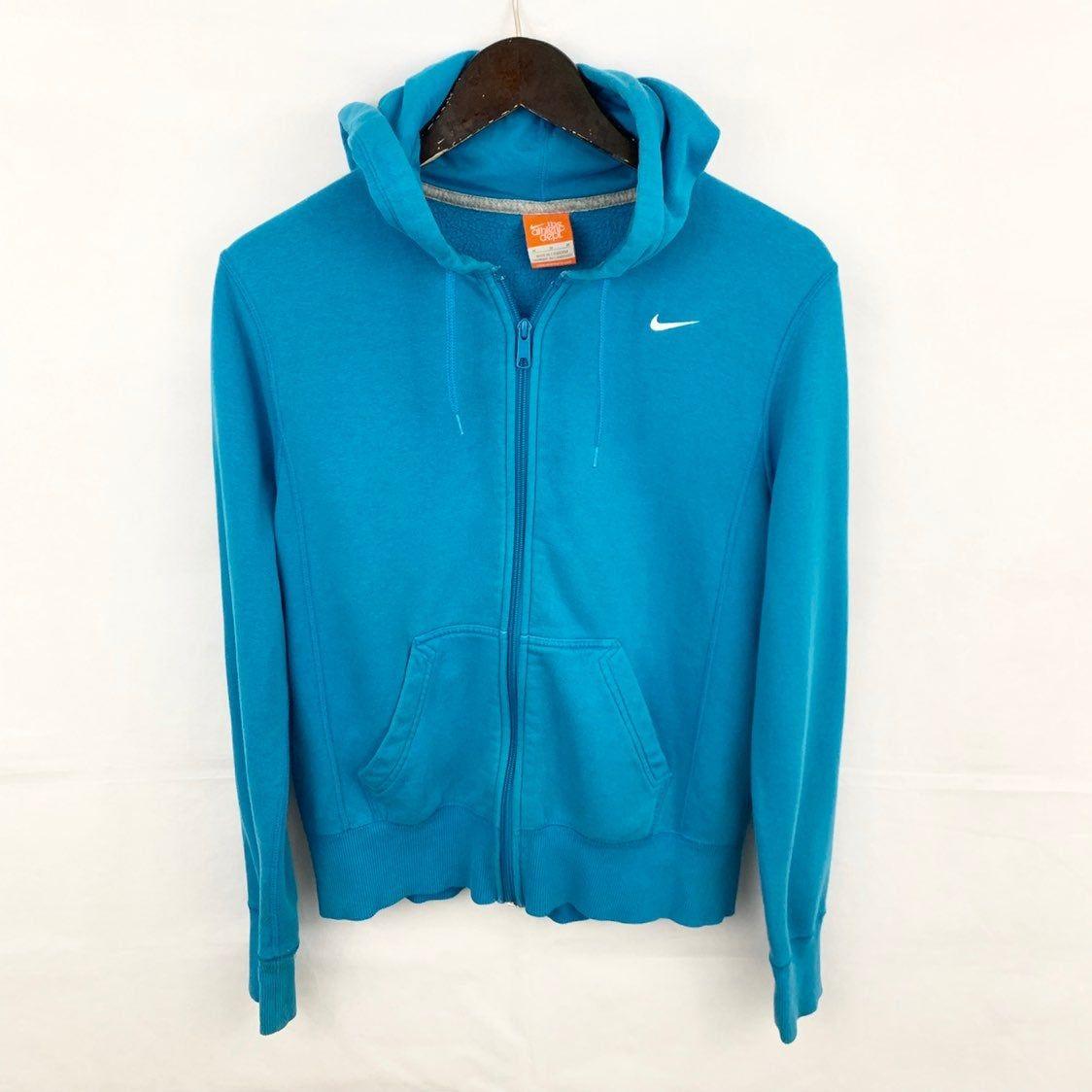 Excellent Condition Nike Women S Teal Blue Full Zip Hooded Jacket Features Zippered Hoodie Drawstrings 2 Front Pockets Nik Nike Women Hoodies Blue Hoodie [ 1124 x 1124 Pixel ]