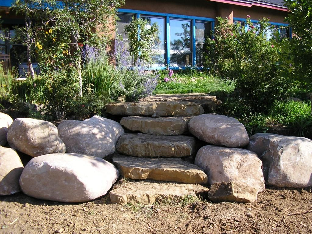 Large Landscape Boulders Dallas : Landscape steps design boulder rocks