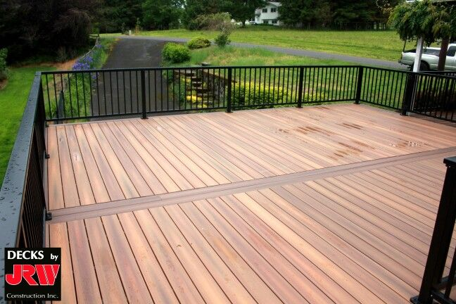 Fiberon ipe decking with black aluminum railing deck for Fiberon ipe decking prices