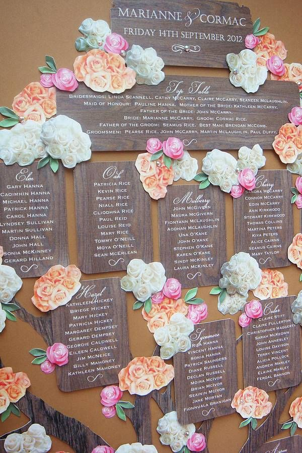 Wedding Seating Chart - Creative Wedding Ideas | Wedding ...