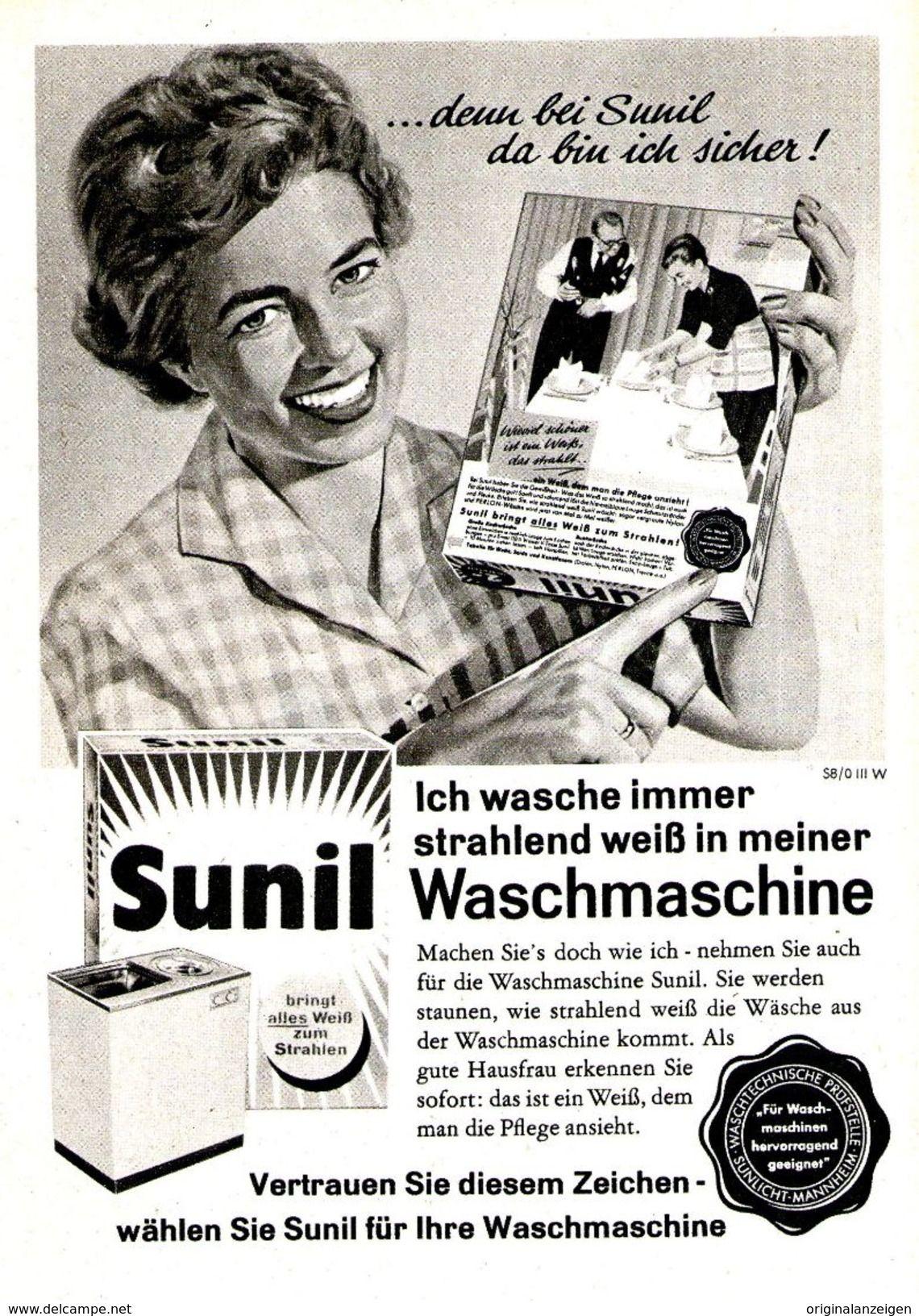 508496ad68 Original-Werbung/ Anzeige 1962 - SUNIL - ca. 120 x 170 m ...