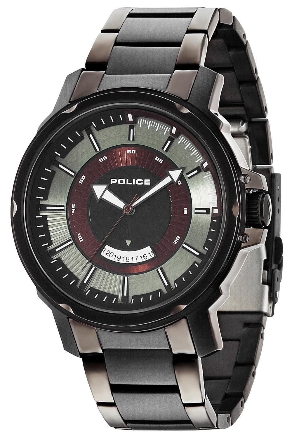 police uhr herren armbanduhr p14382jsu 19m edelstahl grau. Black Bedroom Furniture Sets. Home Design Ideas