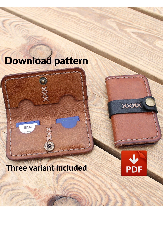 Download Pattern 4 Memory Card Holder Pdf Leather Wallet Pattern Memory Card Holder Leather Wallet Mens