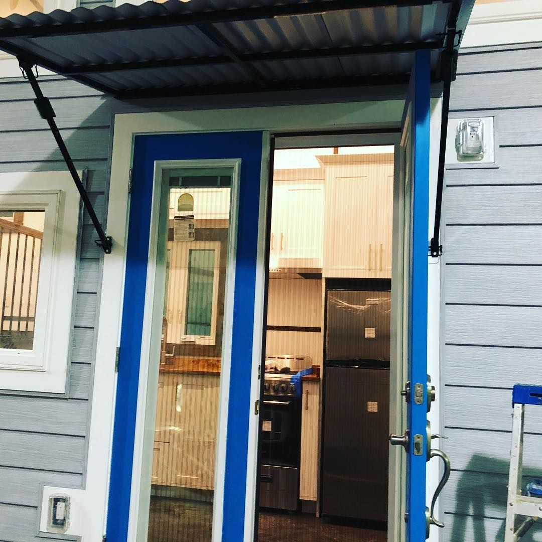 Sliding Screen Door And Awesome Folding Awning Tiny House Chattanooga Sliding Screen Doors Screen Door Tiny House