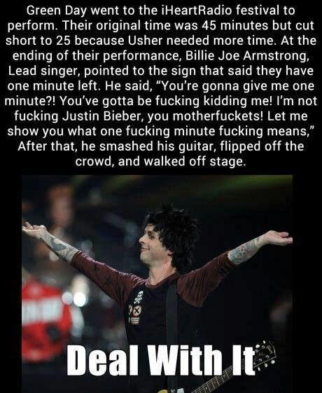 LMFAO!!!!! I absolutely adore Billie Joe! #Respect