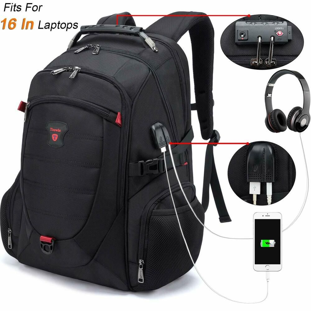 59d27983a5a0 Tzowla Travel Laptop Backpack Anti-Theft Water Resistant Business ...