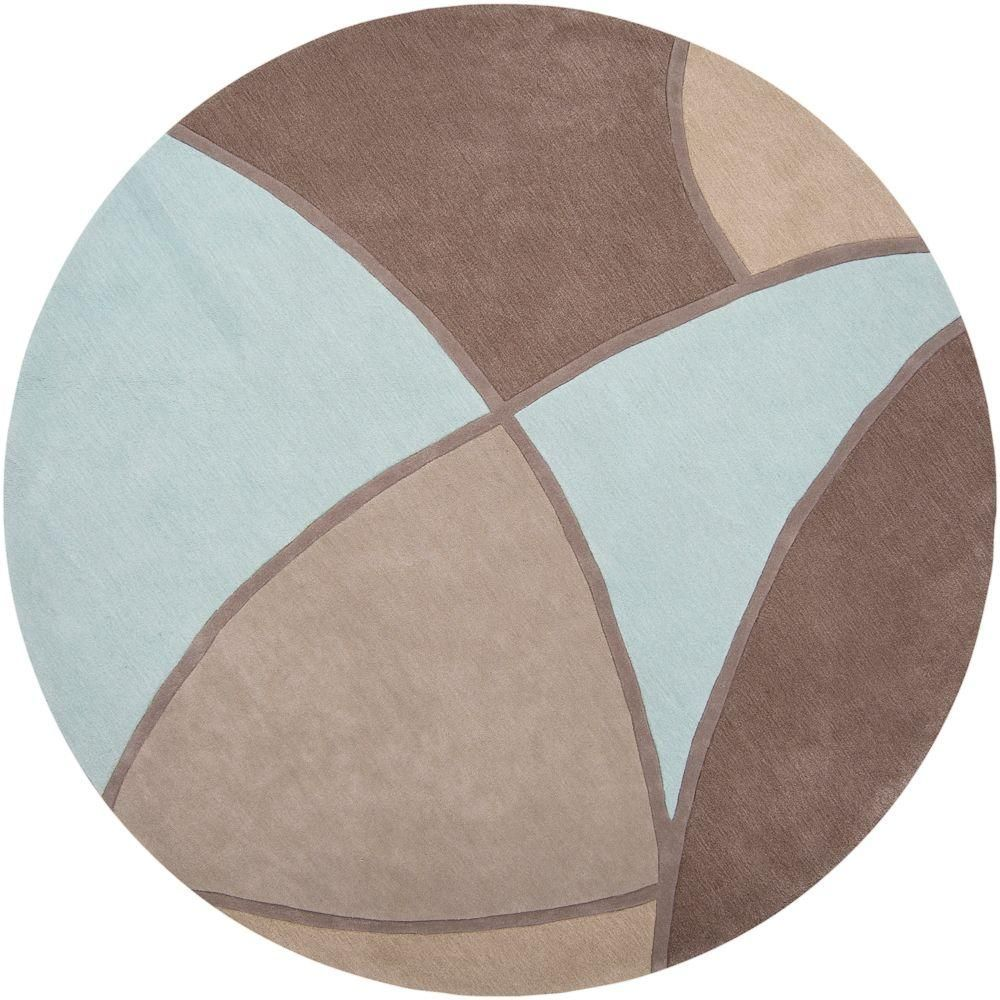 Artistic Weavers Carter Gray 8 Ft X 8 Ft Round Area Rug Hand