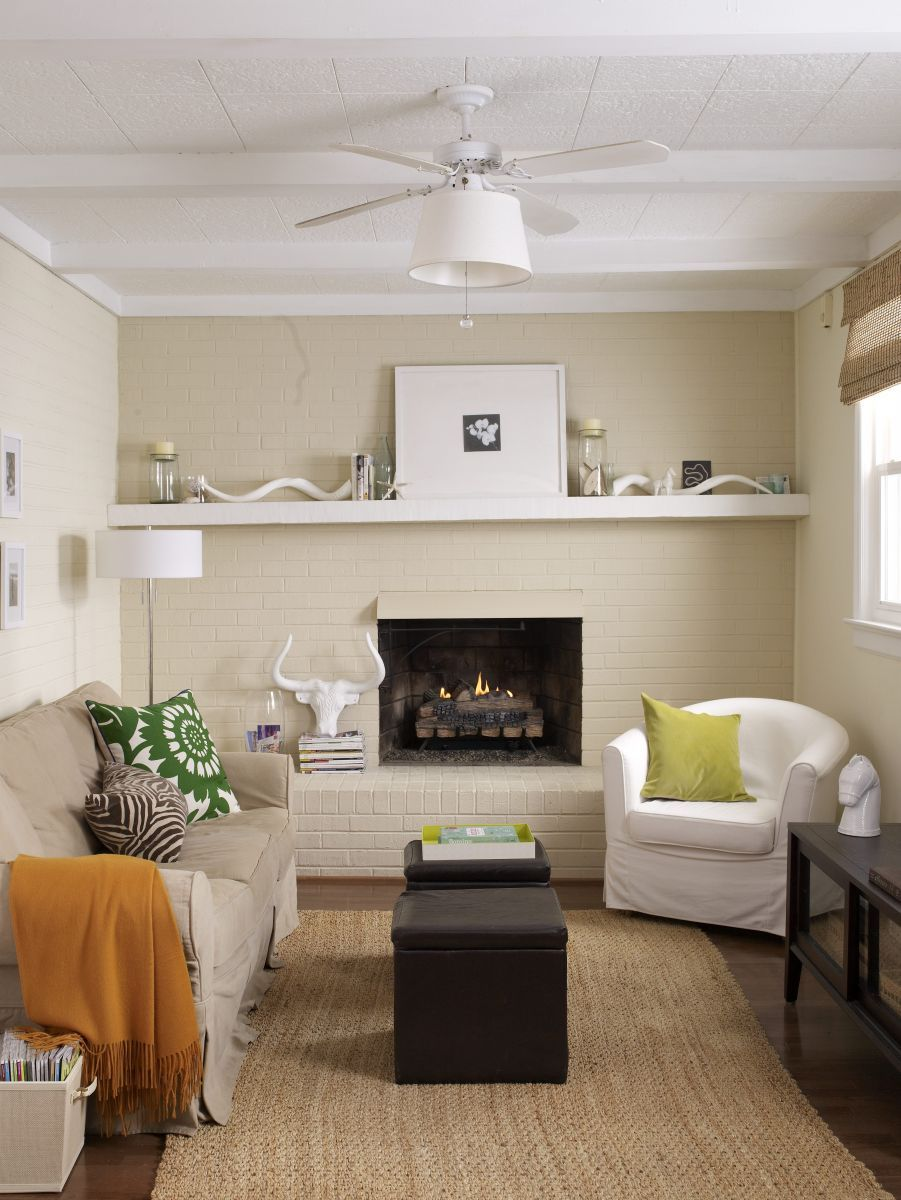 10 Sneaky Ways To Make A Small Space Look Bigger The Everygirl Small Living Rooms Small Living Room Design Small Living Room