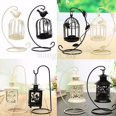 Antique Metal Iron Candlestick Hanging Candle Holder Bird Cage Tea Light Stand Candle Stand Hanging Candle Holder Lantern Lights