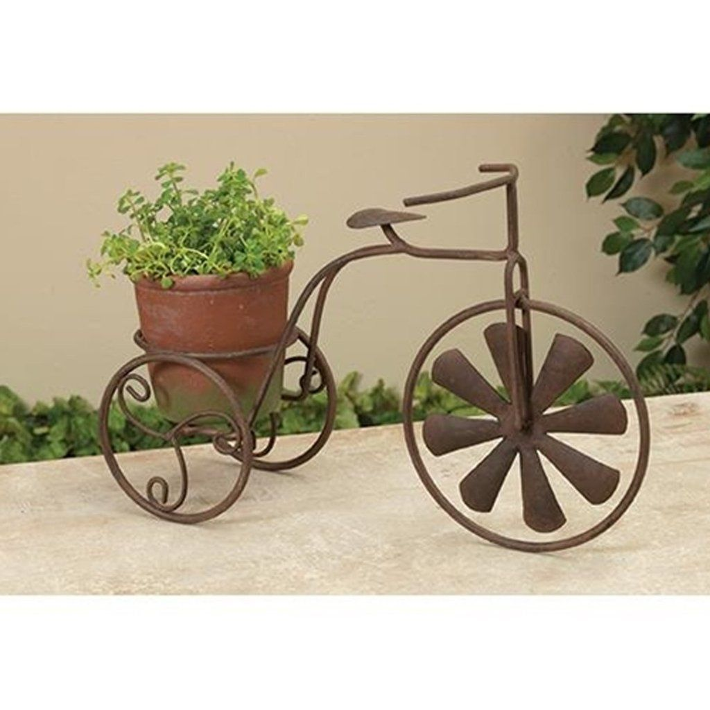 Metal Cement Tricycle Planter Snapdragon Home