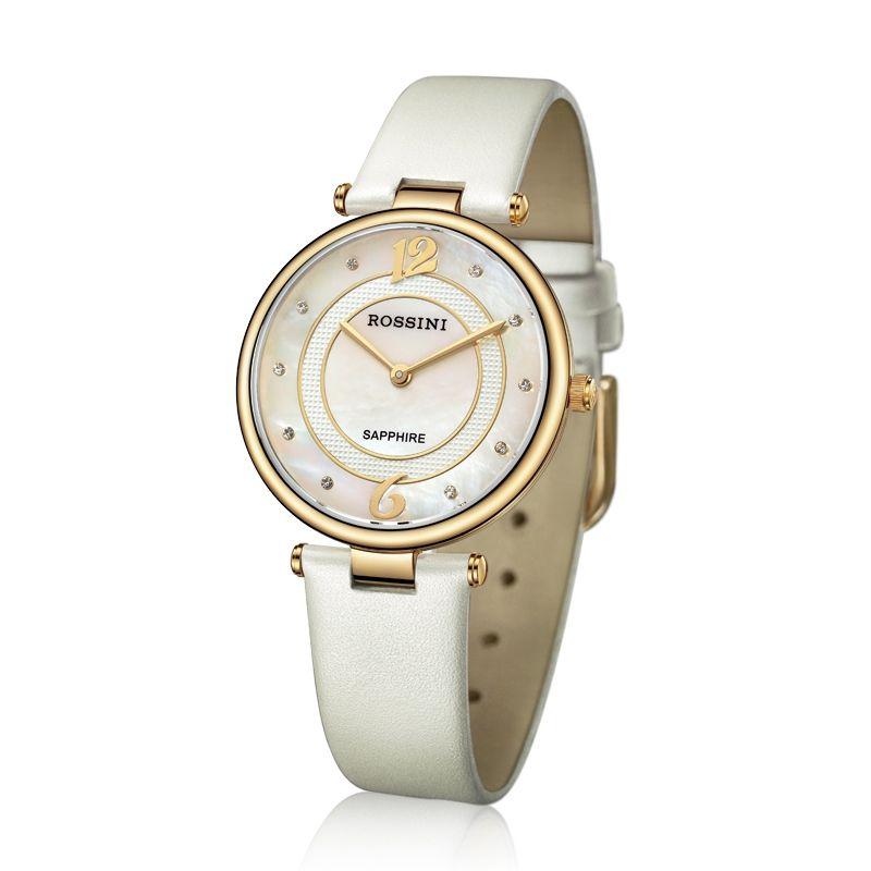 Elegant Luxury White Quartz Ladies Watch