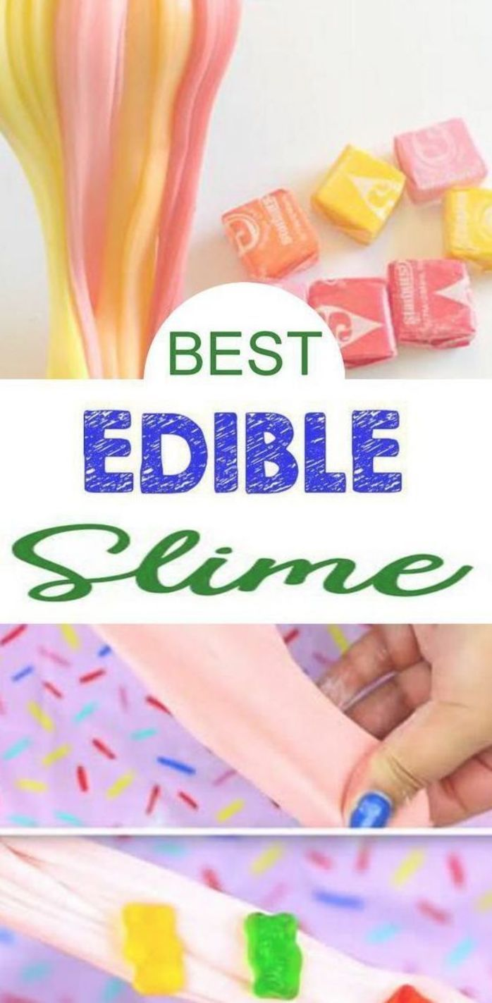 9 DIY Edible Slime Ideas – How To Make Homemade Edible Slime – Easy & Fun Recipes For Kids – Kids Craft Activities – Food Fun Crafts - Party Favors! Check out these edible slime recipes to get you making the BEST slime that is baby and toddler safe but slime that kids of all ages love - teens and tweens too! #edibleslime