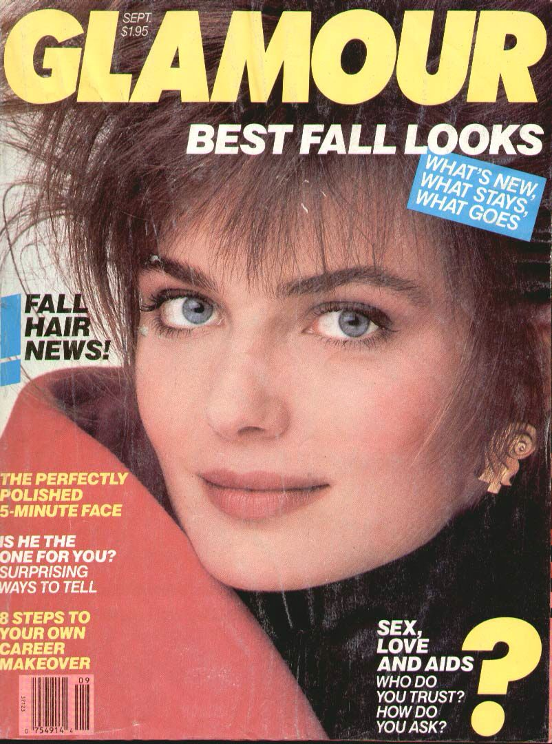 paulina porizkova covers glamour magazine united states sexy babes pinterest paulina. Black Bedroom Furniture Sets. Home Design Ideas