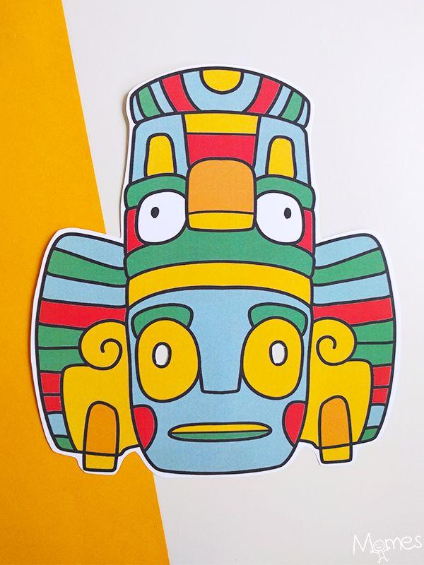 Prix 50% acheter authentique acheter en ligne Masque Inca / Azteque | TRIBES | Masque, Masque a imprimer ...