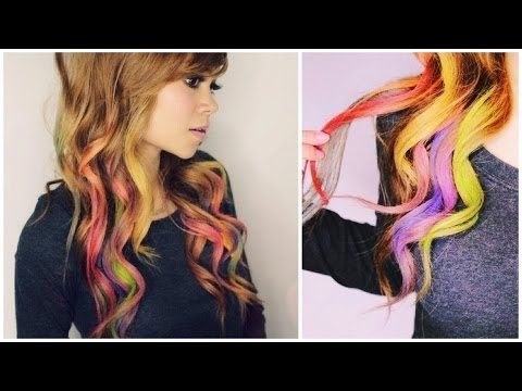▶ How to Color Your Hair with Eyeshadow : Rainbow Loom Hair - YouTube