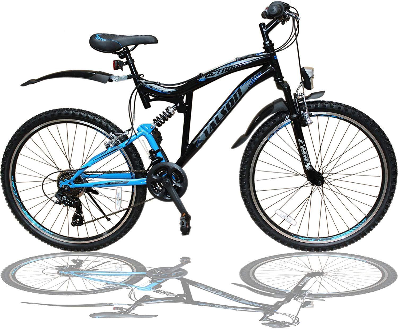 Talson 26 Zoll Mountainbike Fahrrad Mit Vollfederung Beleuchtung 21 Gang Shimano Oxt Black 26 Zoll Mountainbike Mit 21 G In 2020 Fahrrad Fahrradteile Fahrradzubehor