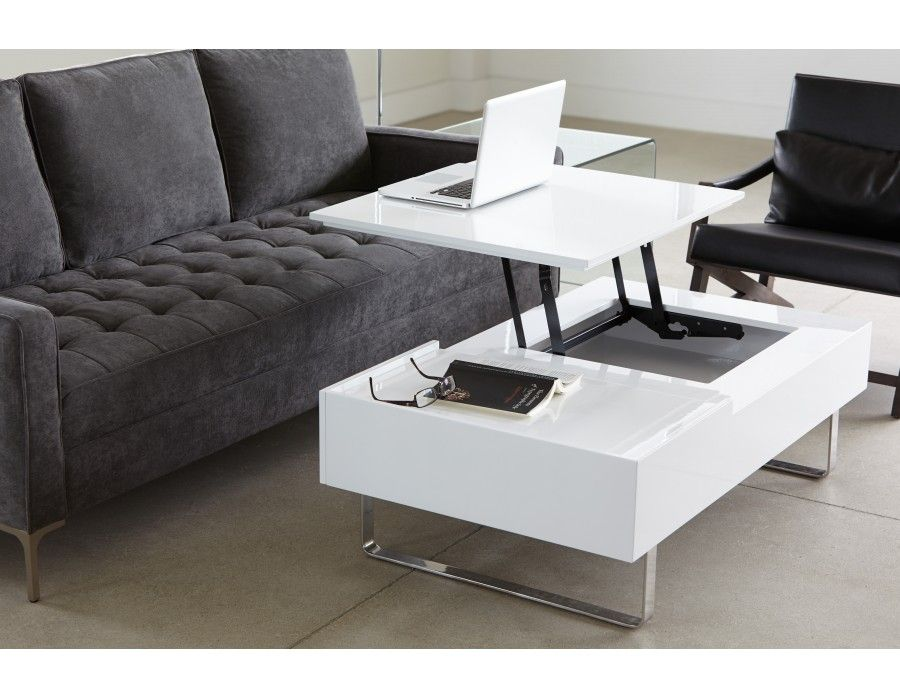 Table basse aquarium en soldes for Table basse relevable solde