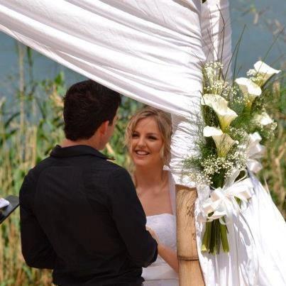 Wedding Flowers  Altar Beach Wedding Arum Lilies