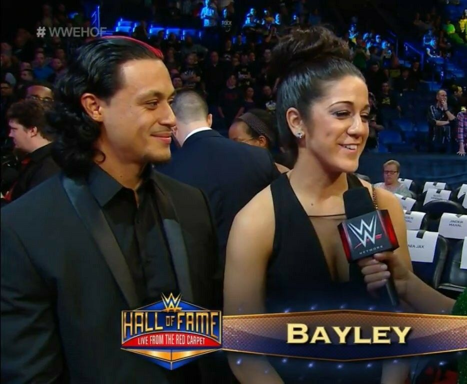 Wwe Diva Bayley Pamela Martinez And Her Fiance Aaron Solow At