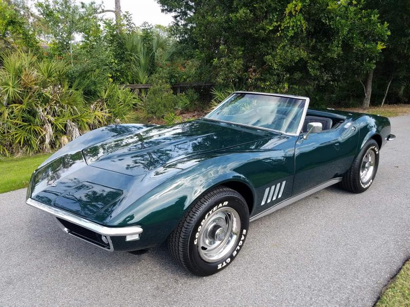 Beautiful off-frame restored 'Vert 1968 British Racing Green Corvette Convertible For Sale in ==US== – Please visit UsedCorvettesForSale.com for more info and photos. #1968Corvette #UsedCorvettesForSale