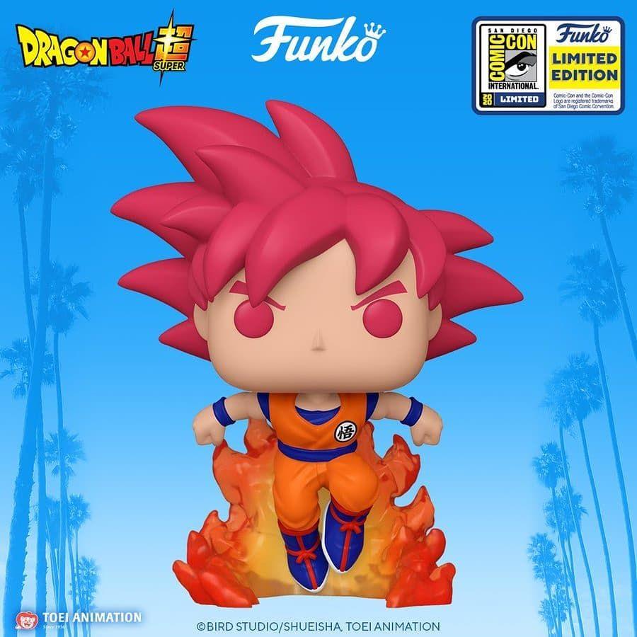 Funko Sdcc 2020 Reveals Pop Animation Dbs Super Saiyan God Goku Funko Funkopop Originalfunko Funk Personajes De Dragon Ball Funko Pops Meme De Anime