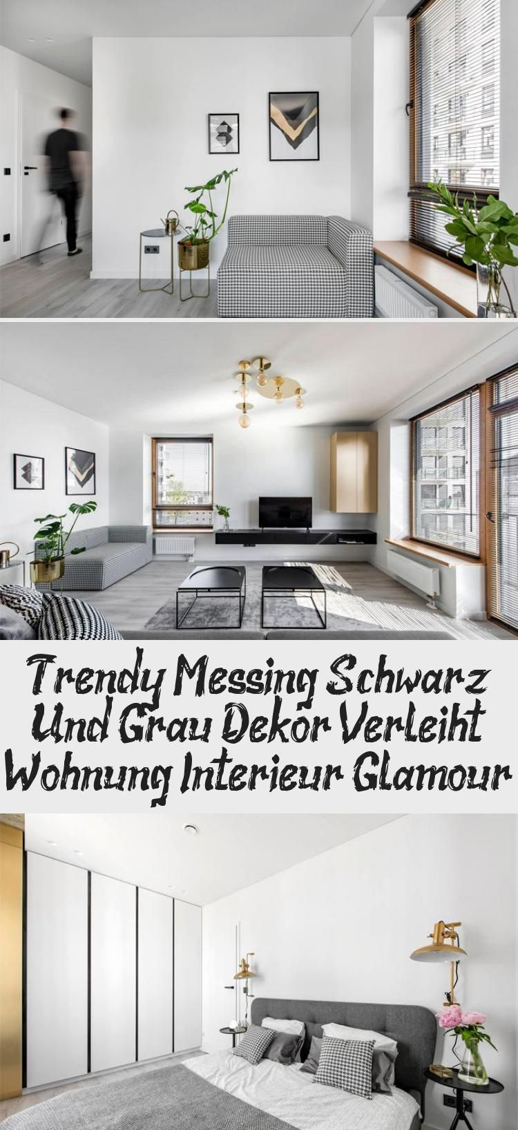 Trendy Messing Schwarz Und Grau Dekor Verleiht Wohnung Interieur Glamour Dekor Interieur Messing Schwarz Trendy Verleiht Wohnung