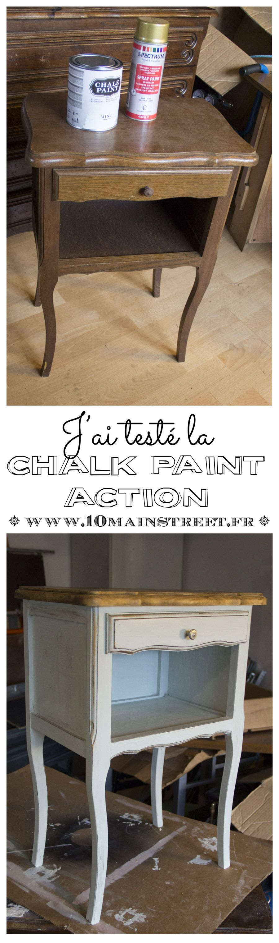 j 39 ai test la chalk paint action et c 39 est plut t bien en fait meuble pinterest bricolage. Black Bedroom Furniture Sets. Home Design Ideas