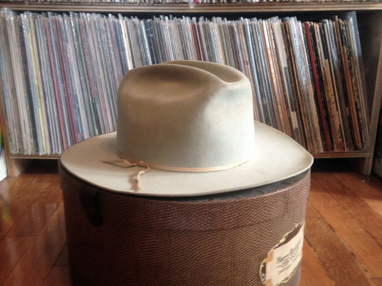 b824b164077 Vintage 1960s Mens Resistol OPEN ROAD Tan by PlainspeakVintage Felt Cowboy  Hats