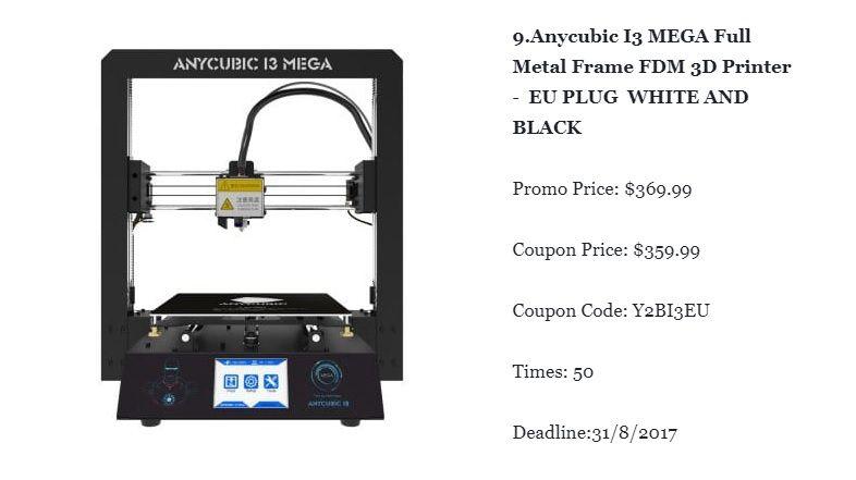 Anycubic i3 mega full metal frame 3d printer fandeluxe Choice Image