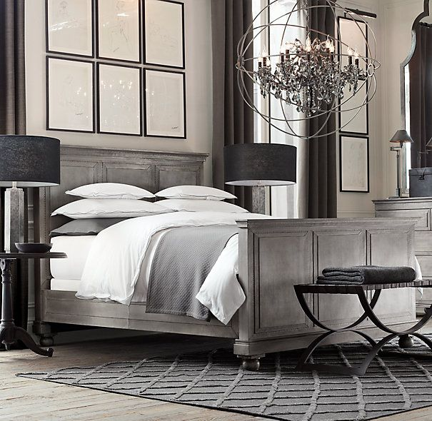 Bedroom :: Restoration Hardware :: ANNECY METAL-WRAPPED BED WITH ...