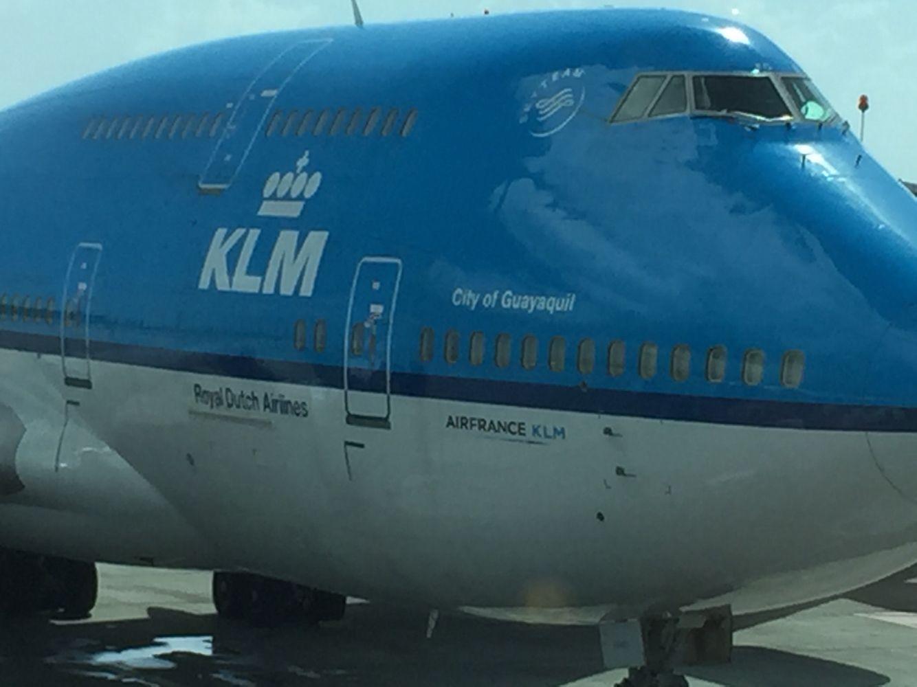 KLM Boeing 747 at SXM