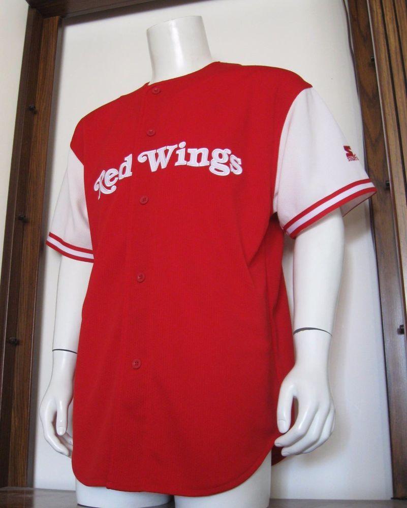 finest selection 72866 c2c10 L Mens Starter Brendan Shanahan Detroit Red Wings Baseball ...