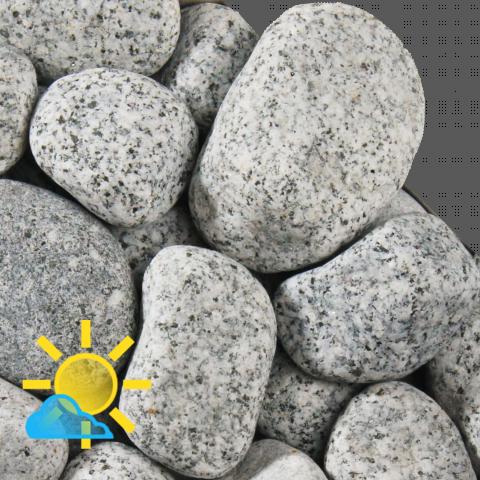 Zierkies Granit Grau 40 60 Mm Granit Kies Gabionen
