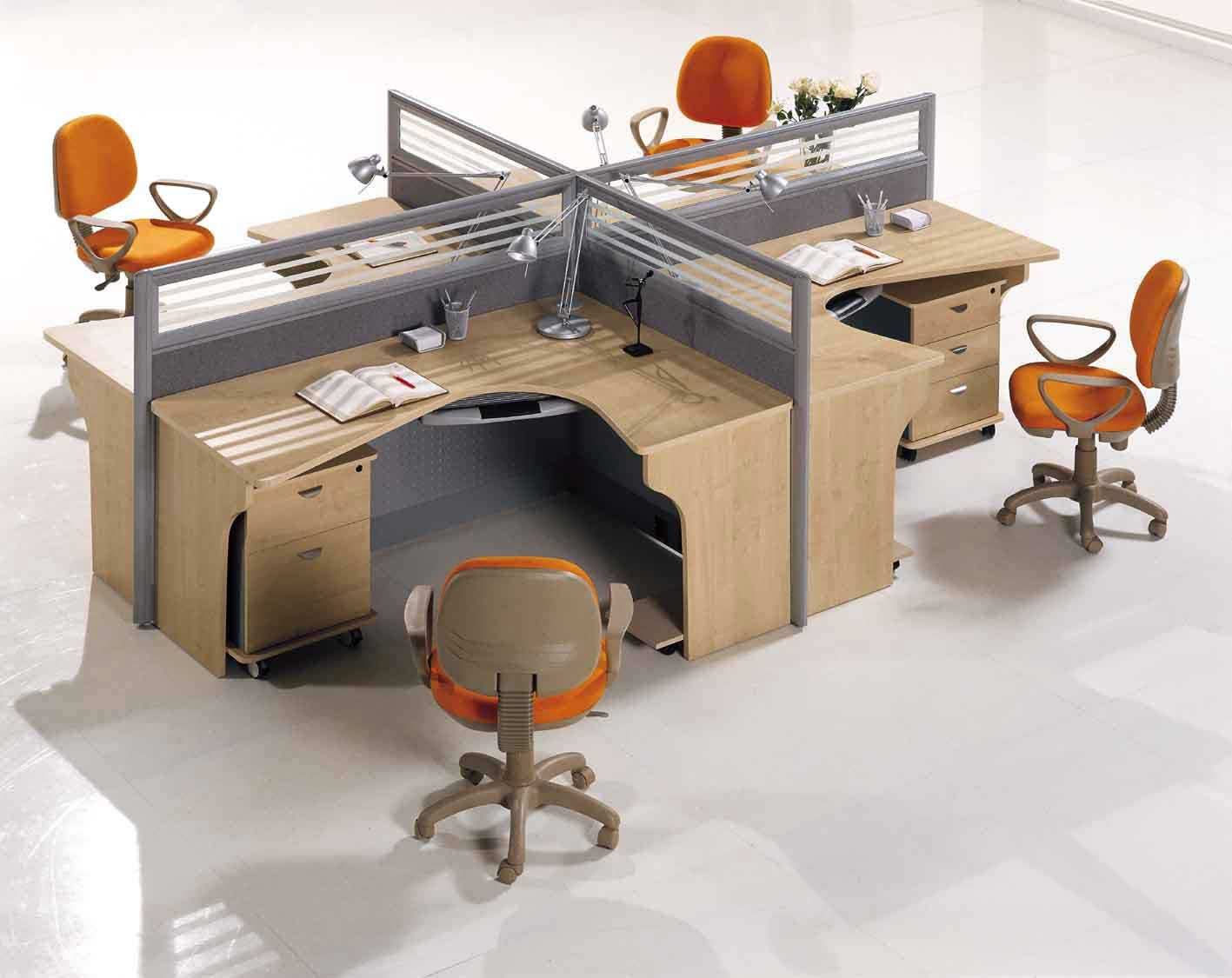 Modular office partitions design and ideas office for Office desk layout ideas