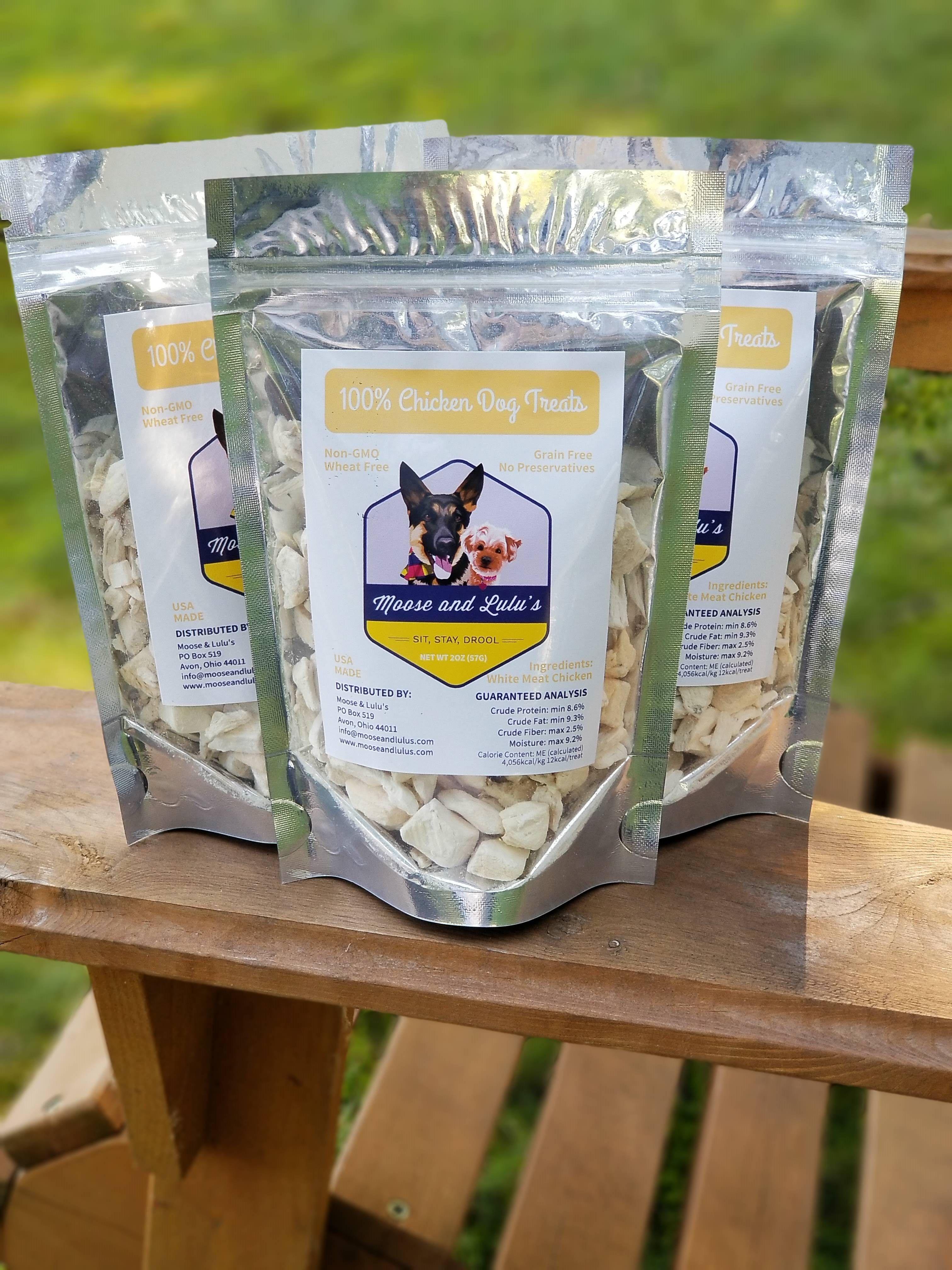 100 chicken freeze dried training treats chicken dog