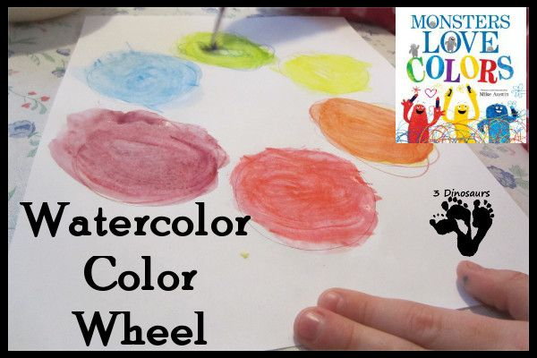 Watercolor Color Wheel Monsters Love Color Teaching Toddlers