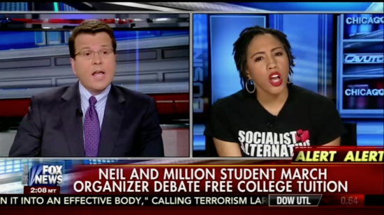 Free college tuition activist wipes the floor with Fox