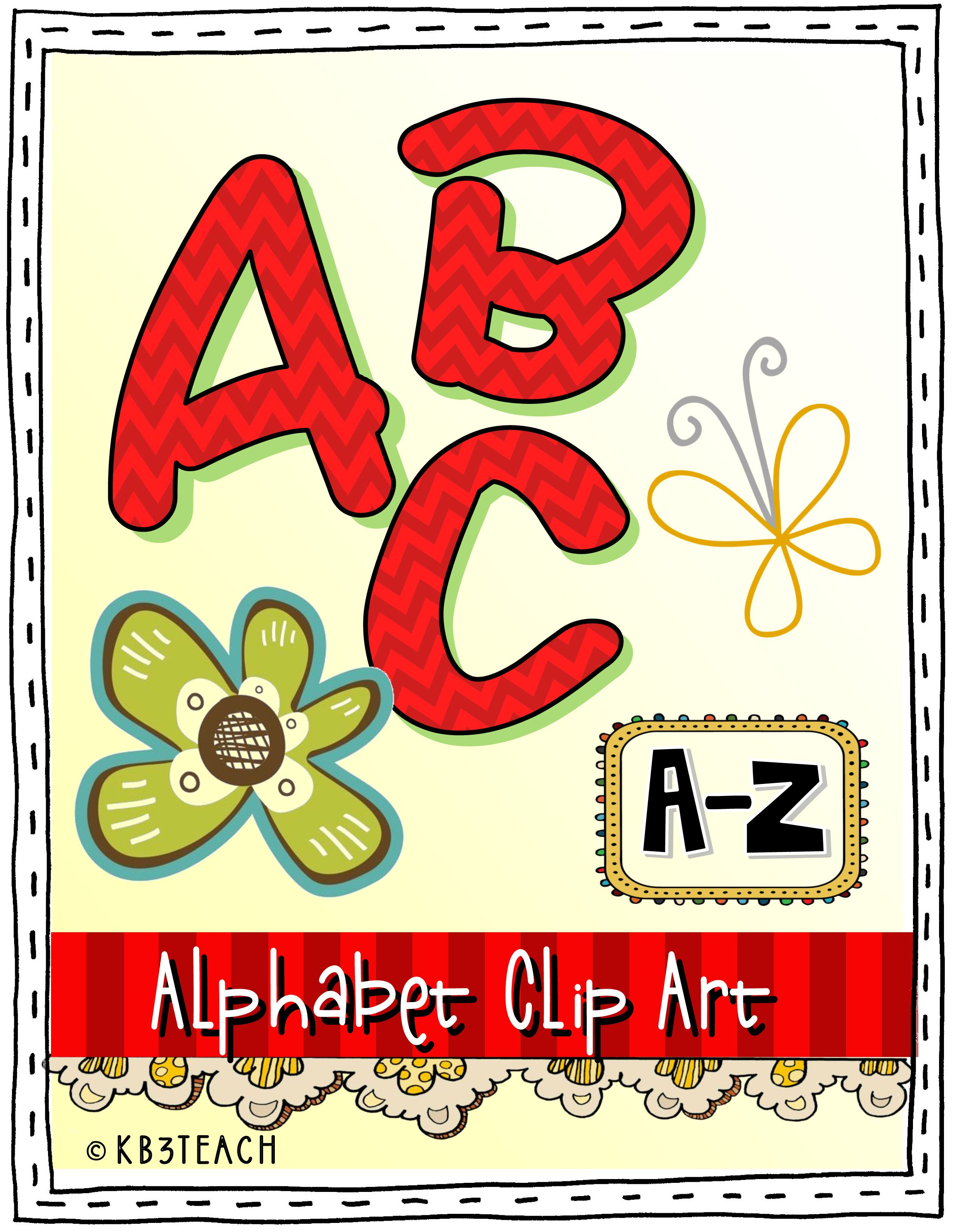 Alphabet Clipart Value Pack 4 Sets