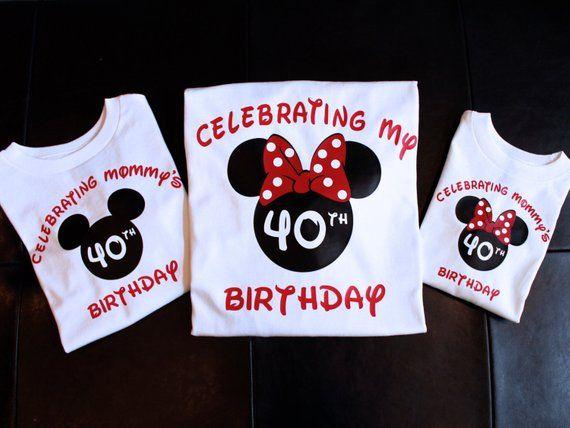Disney Birthday Shirt Shirts Minnie 40th Bi