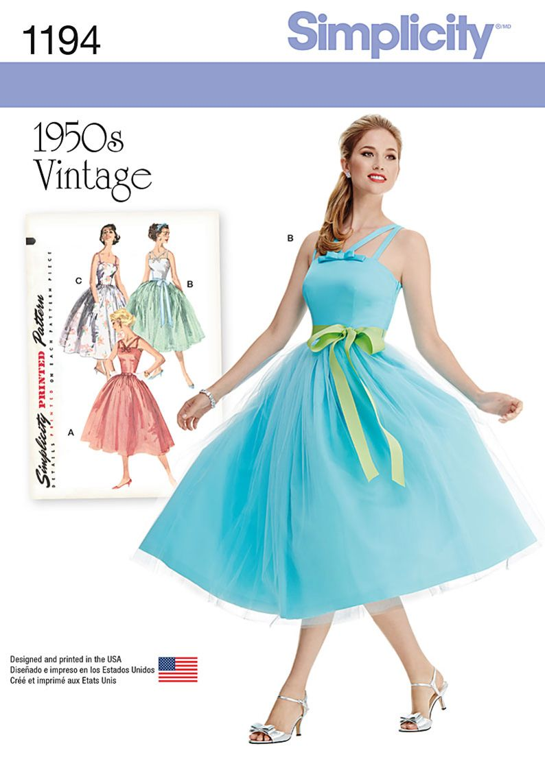 b36c17c69435 Simplicity Creative Group - Misses  and Miss Petite Vintage Dress ...