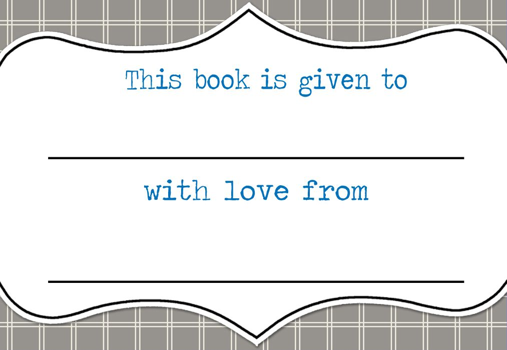 free printable bookplates for baby Printable Bookplates - FREEBIES - bookplate template word