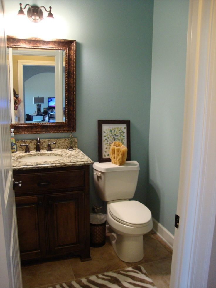 Love This Paint Color Sherwin Williams Rain Small Bathroom Paint Small Bathroom Colors Sherwin Williams Paint Colors