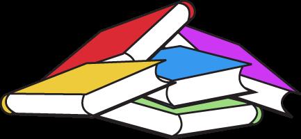 Books colorful file.