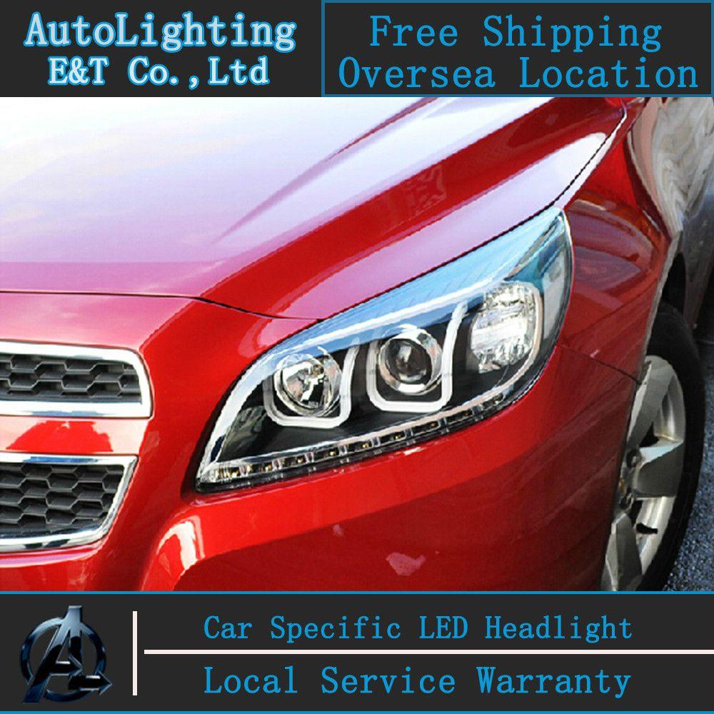 Car Styling Led Head Lamp For Chevrolet Malibu Headlights 2011