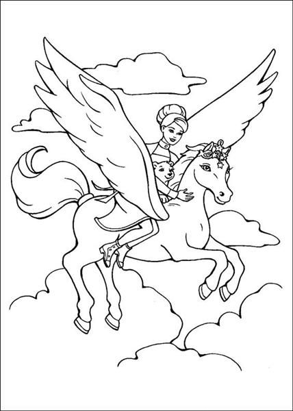 And The Magic Pegasus Coloring Pages   FAIRY   Pinterest