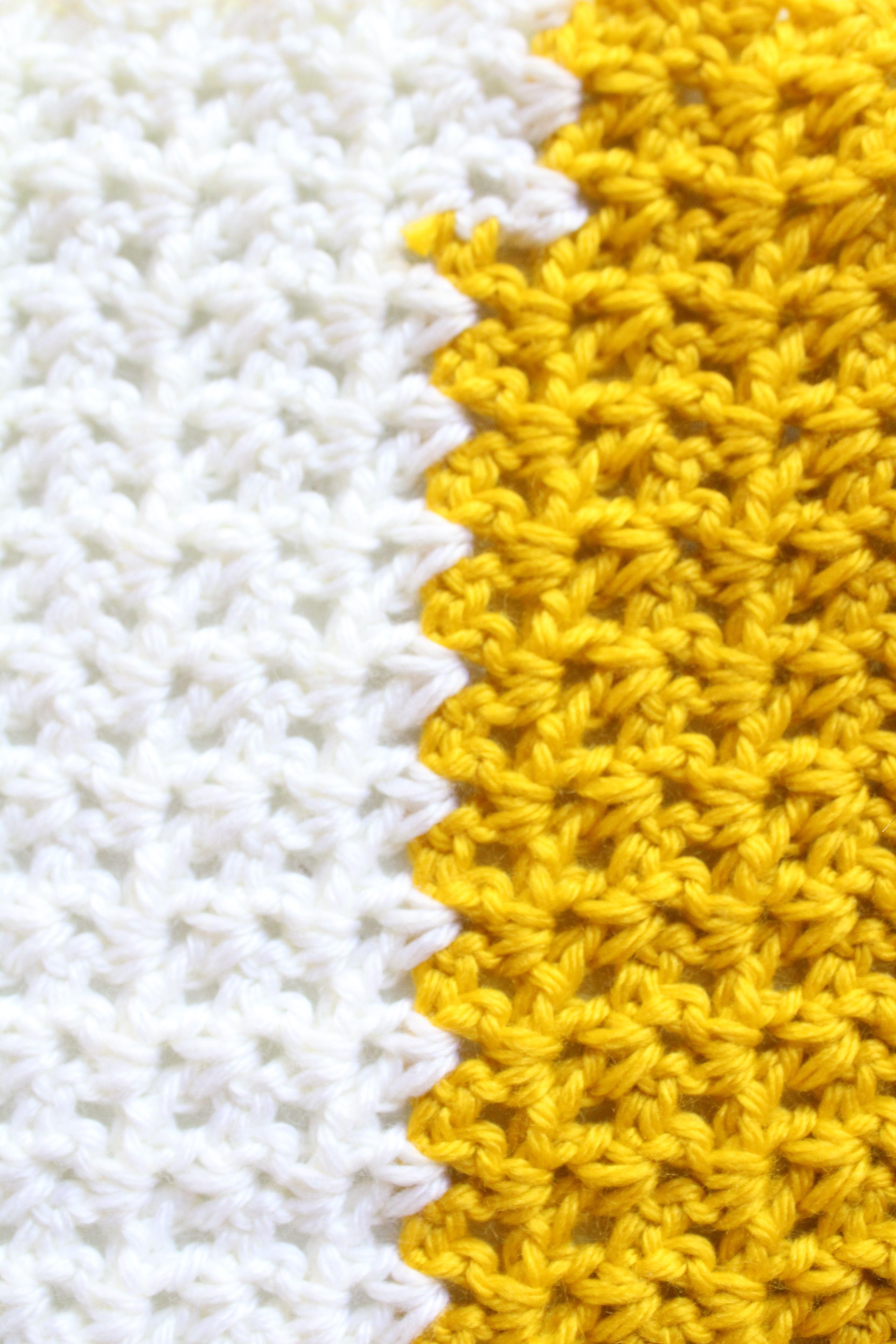 Crochet scarf: simple free V stitch pattern | Tejido