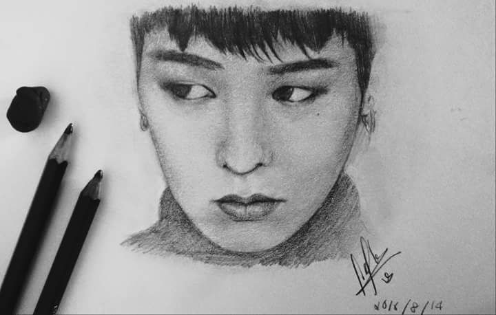 G Dragon The Kpop Star Gdragon Kpop Drawing Sketching Portraitdrawing Portrait Art Artist Artideas Kpop Drawings Portrait Drawing Dragon Sketch