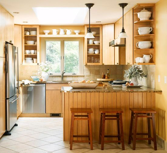 Our Favorite Small Kitchens That Live Large  Nature Inspired Magnificent Bhg Kitchen Design Design Ideas