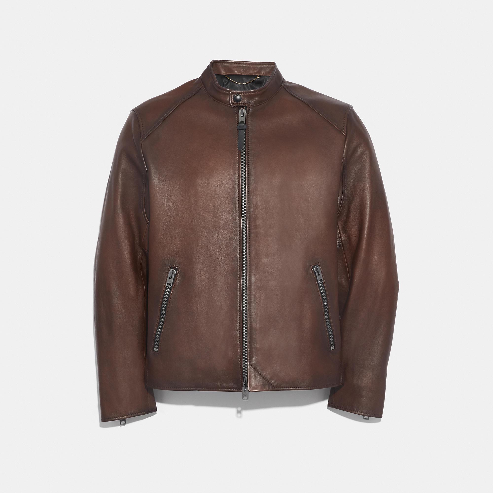 Coach Coach Jacket Coach Cloth Racer Jacket Jackets Leather [ 2000 x 2000 Pixel ]