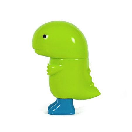 Amedas : Lime with Blue Boots - Amazing new soft vinyl figures from the Chima Group. All made in Japan!